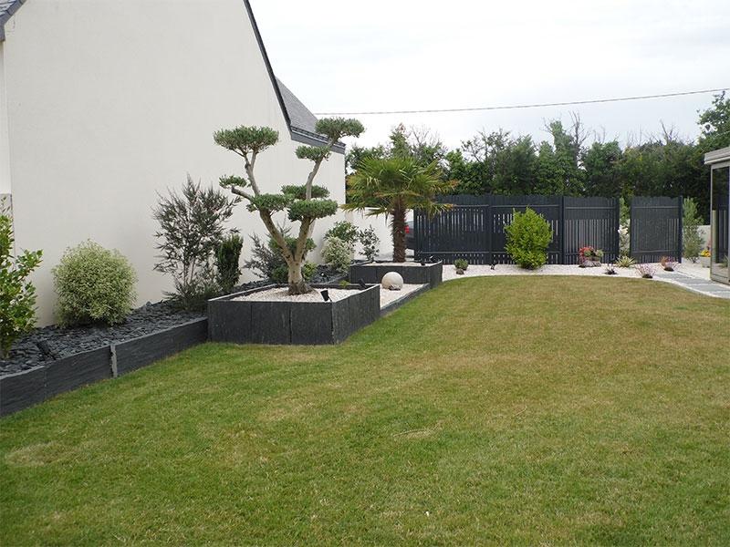 Jardin paysager jardin paysager with jardin paysager - Amenagement petit jardin avec terrasse asnieres sur seine ...